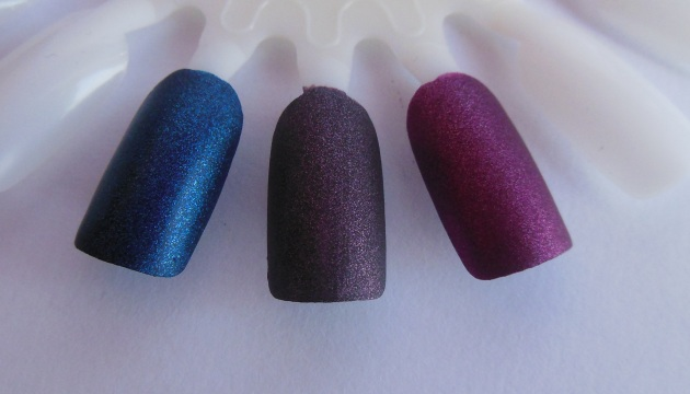 Esmaltes Smooth Velvet effect  610 Sensual Candle, 612 Devil in me y 609 Fire up!